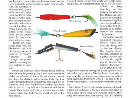 The New Jersey Angler Magazine Features Phase II Lures