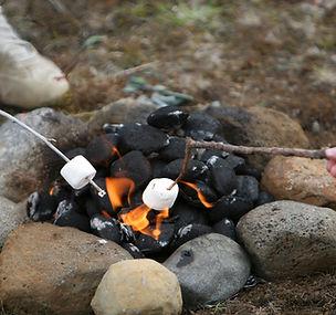 キャンプファイヤーマシュマロ
