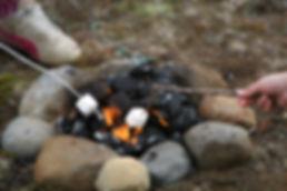 east sussex campsite campfire