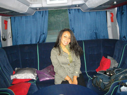 Maria's Creativity Cave in back of the bus