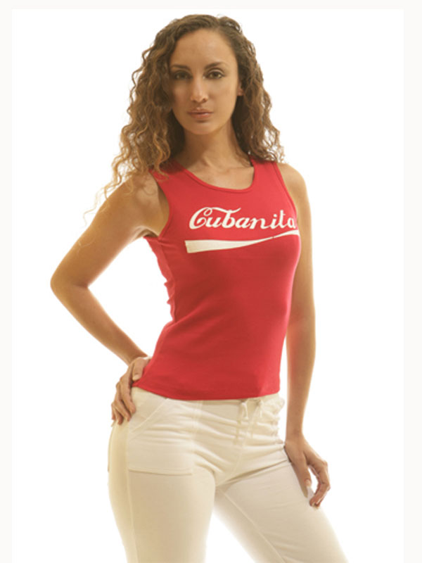 Cubanita Red Sleeveless Tee
