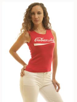 Cubanita Red Sleeveless Tee