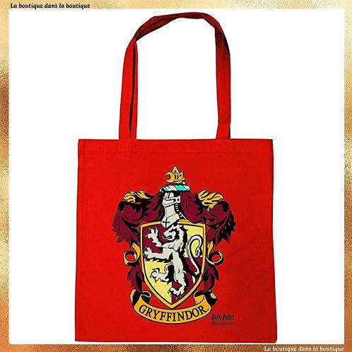 tote bag sac course gryffondor cabas rouge la boutique dans la boutique harry potter