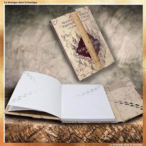 carte du maraudeur carnet magnétique