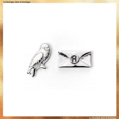 boucle d'oreille lettre d'acceptation poudlard hedwige