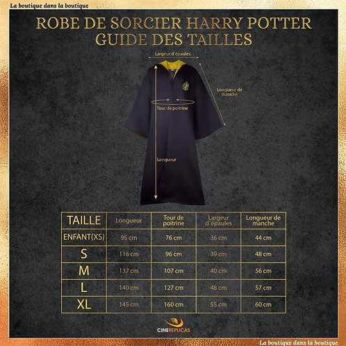 Robe de sorcier Poufsouffle