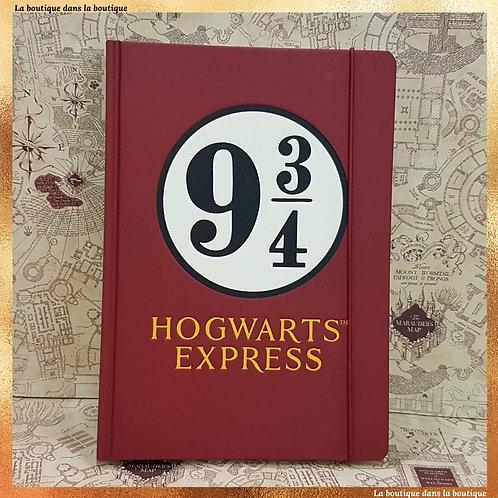 plateforme 9 3/4 hogwarts express carnet