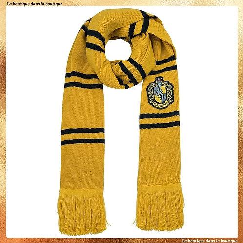 écharpe poufsouffle hufflepuff jaune laine officielle la boutique dans la boutique harry potter
