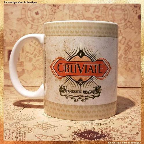 mug obliviate les animaux fantastiques