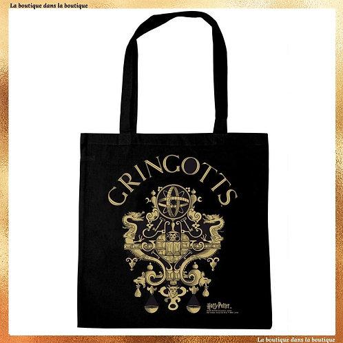 tote bag gringotts cabas noir la boutique dans la boutique harry potter