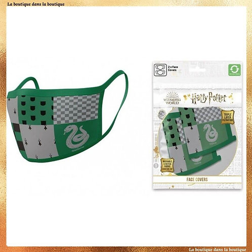 Lot de 2 masques Serpentard - Harry Potter