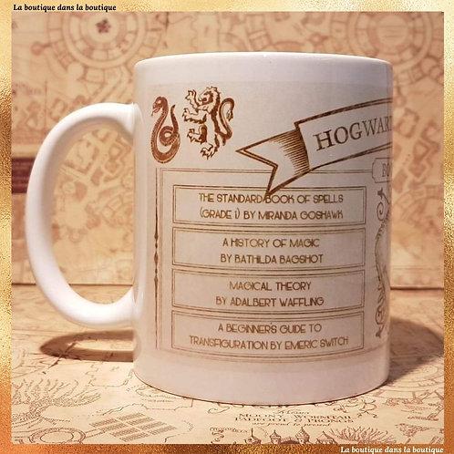 mug liste d'école harry potter