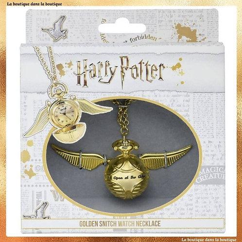 montre harry potter gousset collier vif d'or