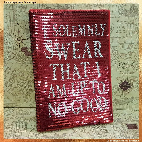 i solemnly swear that i am up tu no good cahier