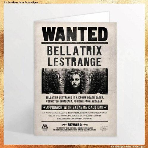 carte postale lenticulaire bellatrix lestrange boutique harry potter la boutique dans la boutique