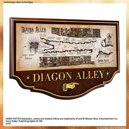 La plaque murale du chemin de traverse (Diagon Alley) - Noble Collection
