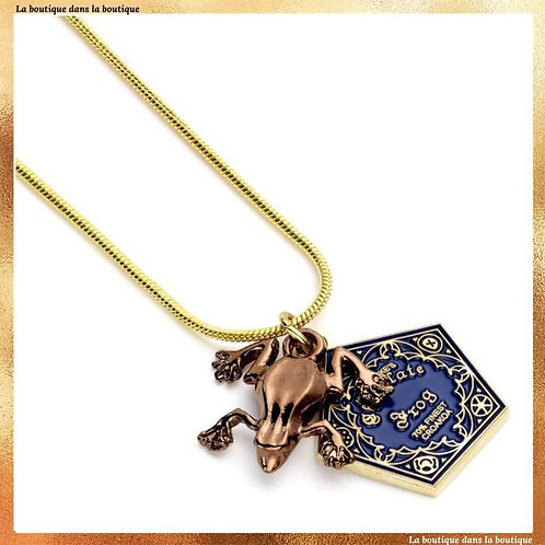 collier chocogrenouille choco frogg harry potter