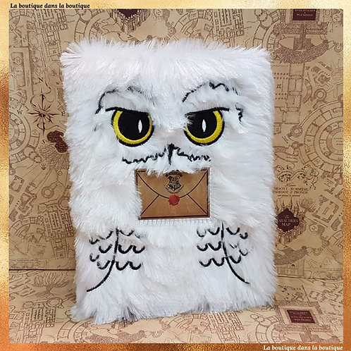 Cahier fluffy Hedwige - Harry Potter