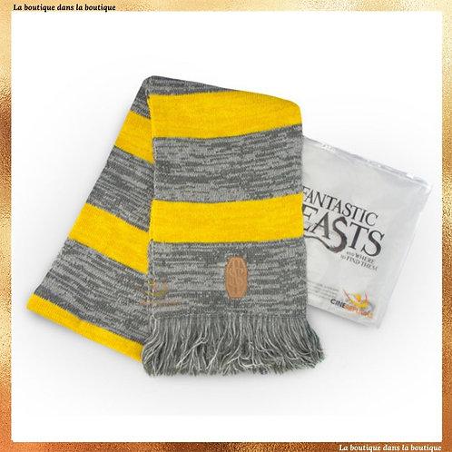 echarpe norbert dragonneau jaune et grise boutique harry potter