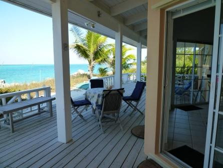 Deck facing the ocean