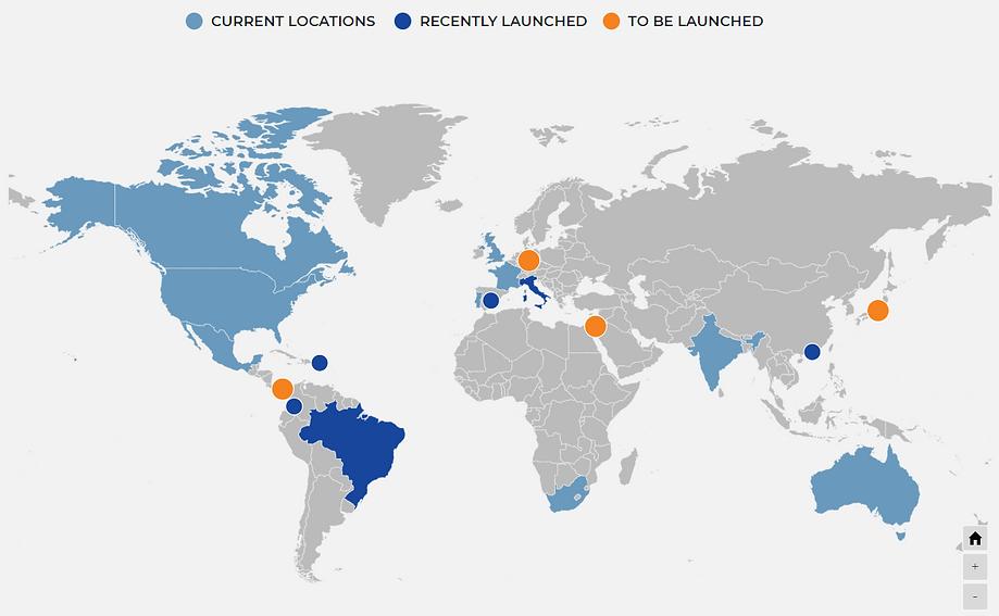 eXp Global map