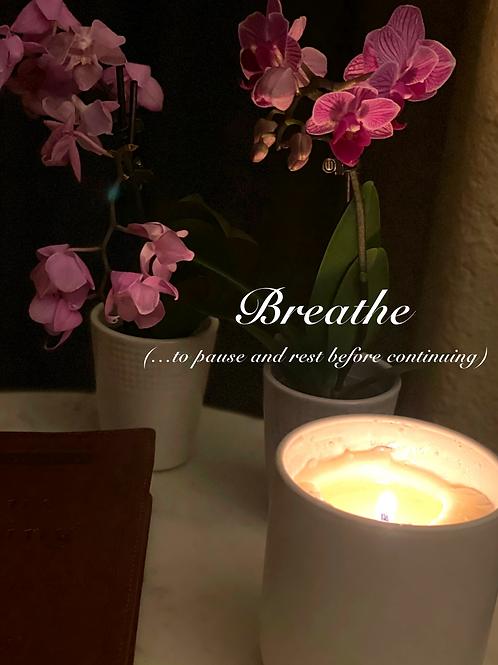 Donated Breathe Custom Candle