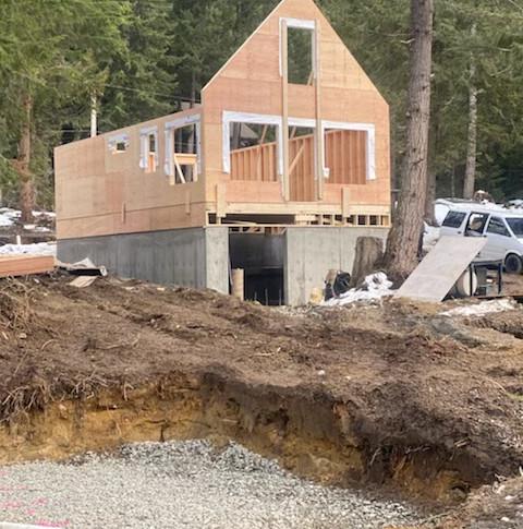 Start of Cabin build on Lot 156