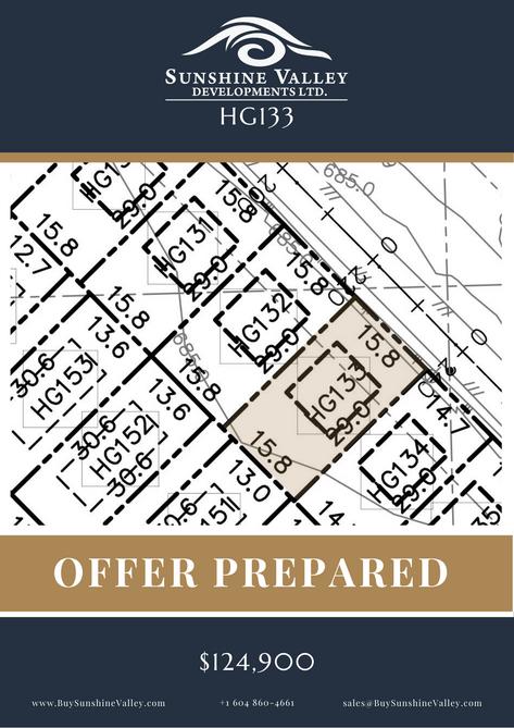 HG133 [OFFER PREPARED]