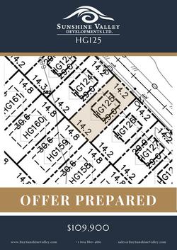 HG125 [OFFER PREPARED]