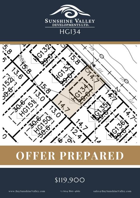 HG134 [OFFER PREPARED]