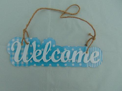 CARTEL WELCOME COLGANTE