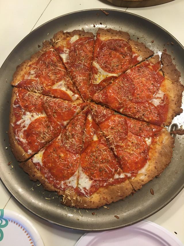The BEST Fat Head pizza dough technique