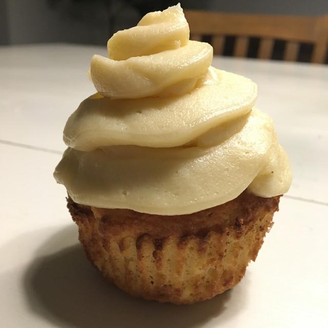Keto Vanilla Cupcake with Cream Cheese Frosting