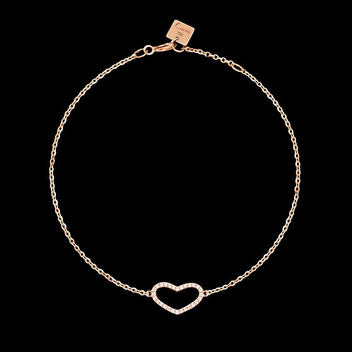 Rose gold bracelet and white diamonds / Armband