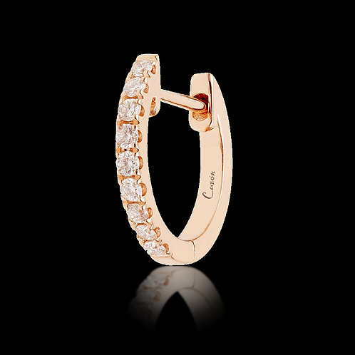 Hoop earrings with diamonds / Creolen.
