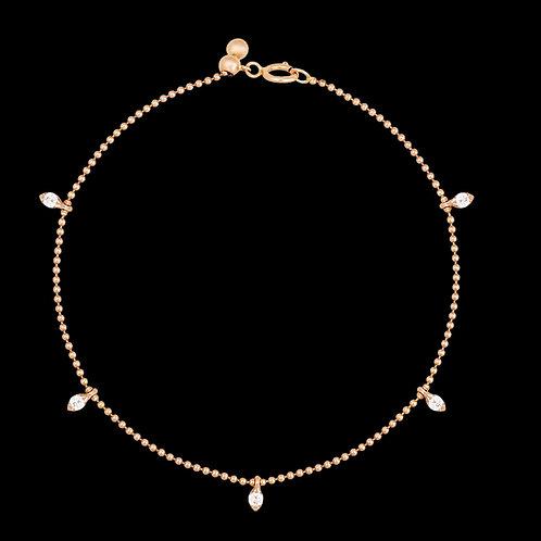 Rose gold bracelet with diamonds / Armband