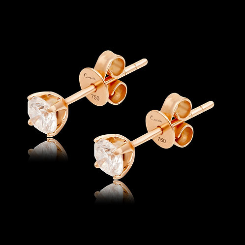 Ear studs with Diamonds / Ohrstecker