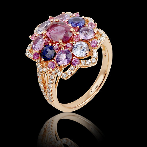 Diamonds and Sapphires ring