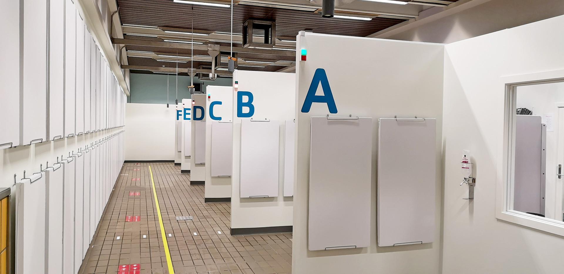 Akustik hos COVID-19 testcenter i Roskilde