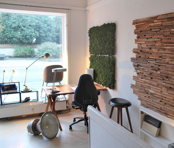 Mospaneler – akustikvæg til kontor