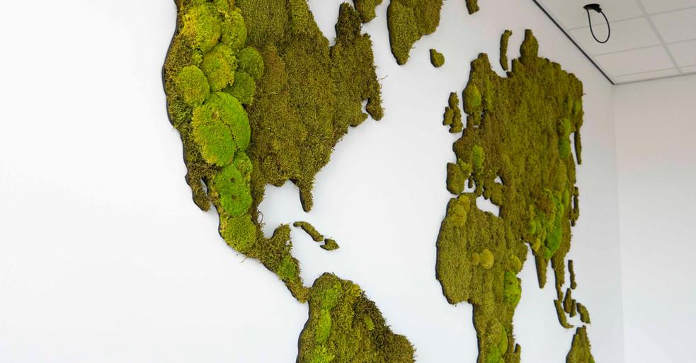 Mospaneler – få et verdenskort i mos