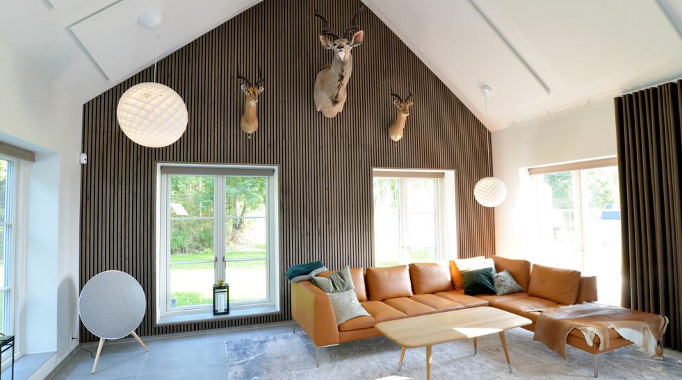 Akustikloft og akustikvæg i privathjem