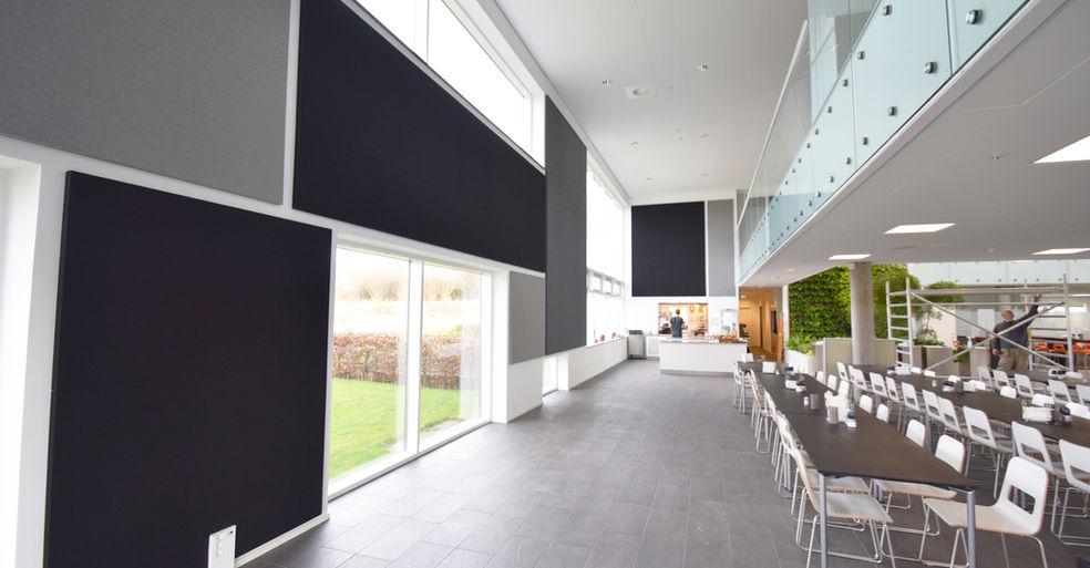 Alpha TYST - akustikløsning til væg i kantine