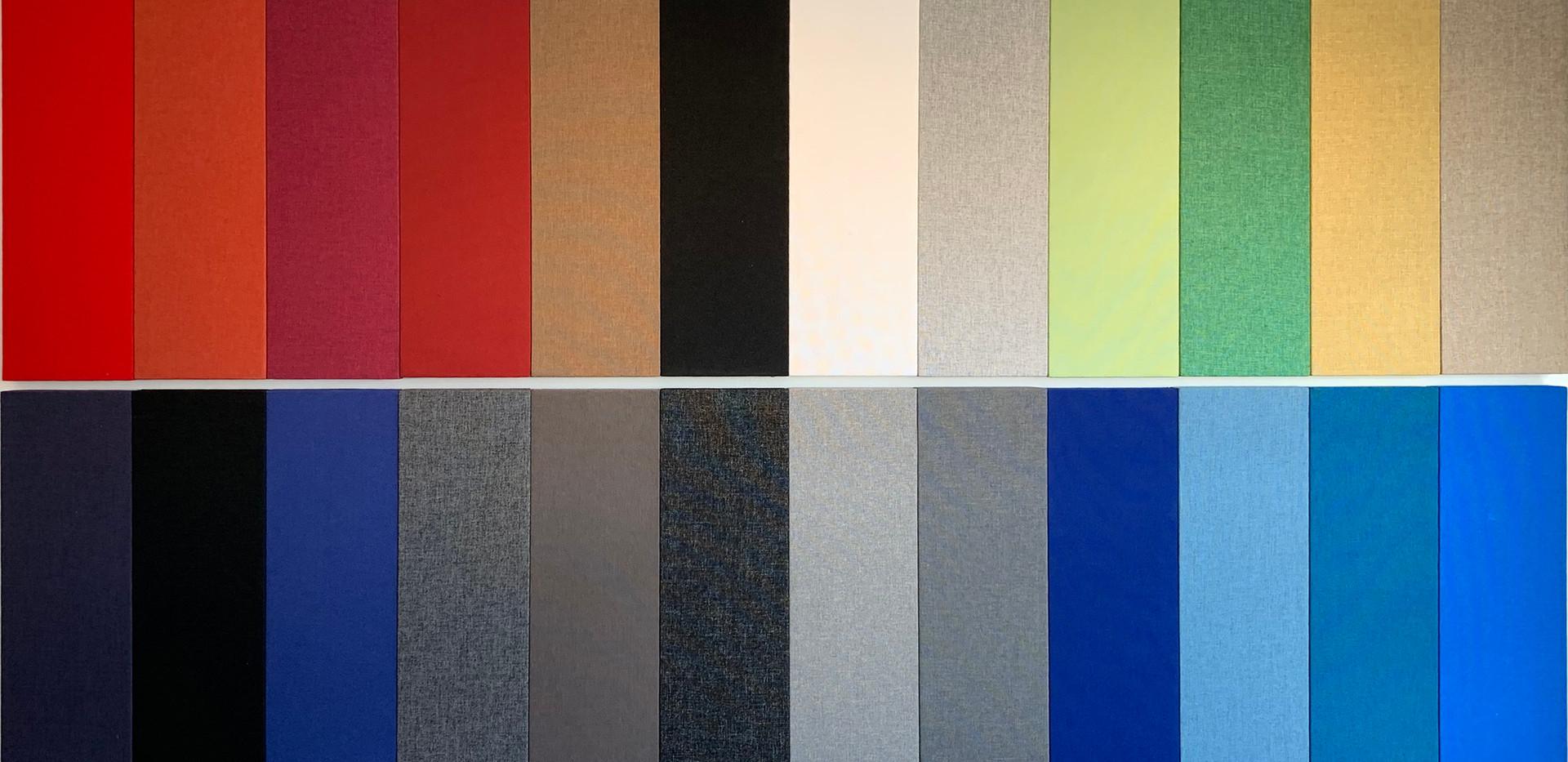 Farveoversigt af Alpha TYST farver