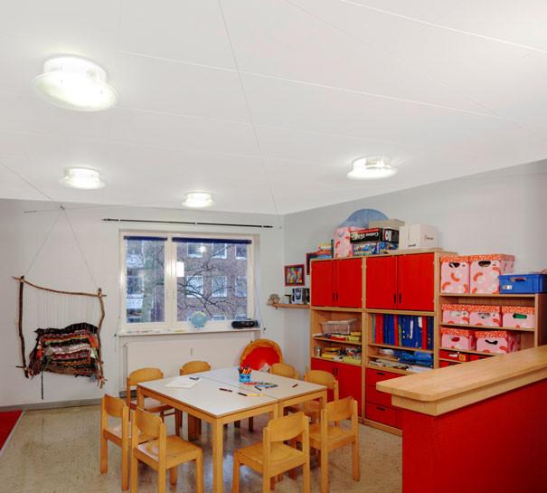 Akustikloft i børnehave