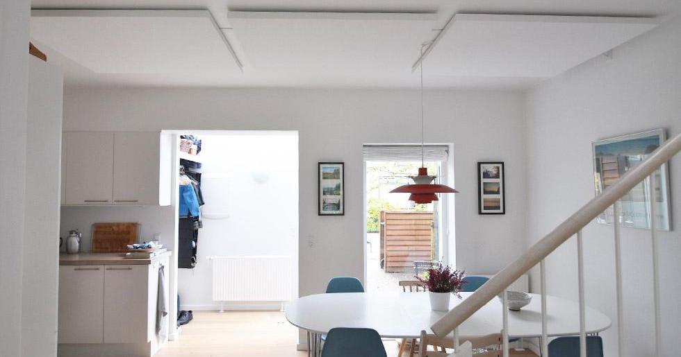 Alpha SOLO - Akustikløsning til loftet i privathjem