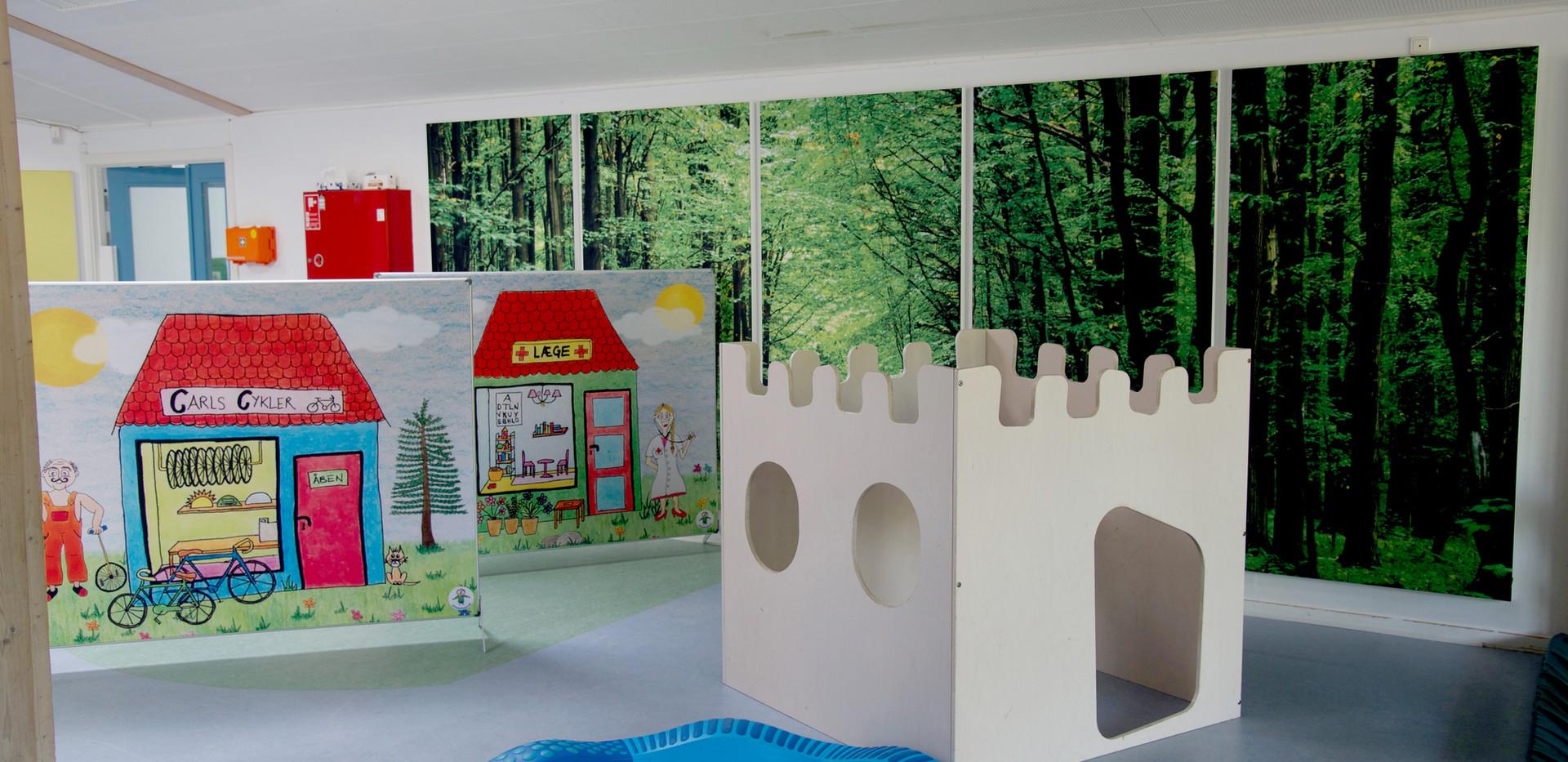 Akustikregulering med akustikbillede i børnehave