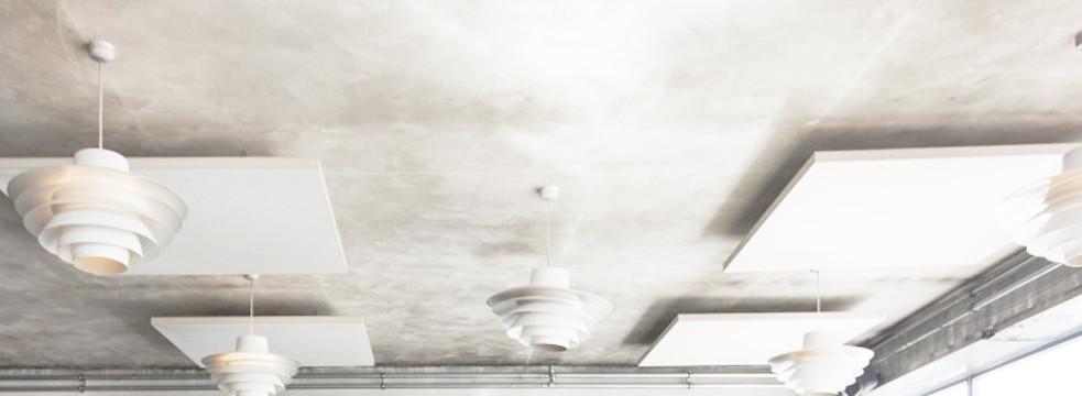 Alpha SOLO - Akustikløsning til loftet på retaurant