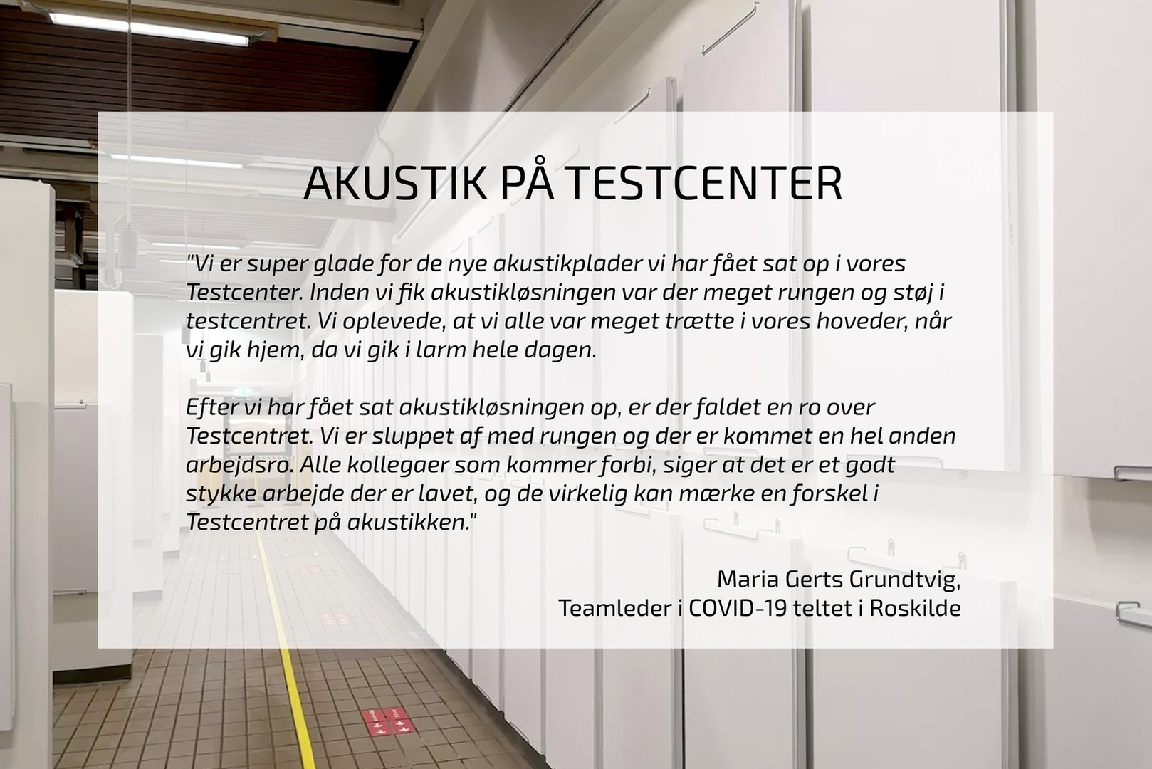 AKUSTIK PÅ TESTCENTER