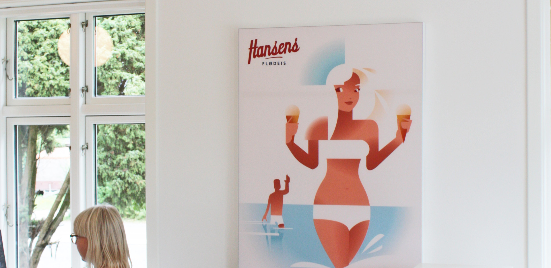 Støjdæmpning og god akustik med akustikbilleder hos Hansens Is